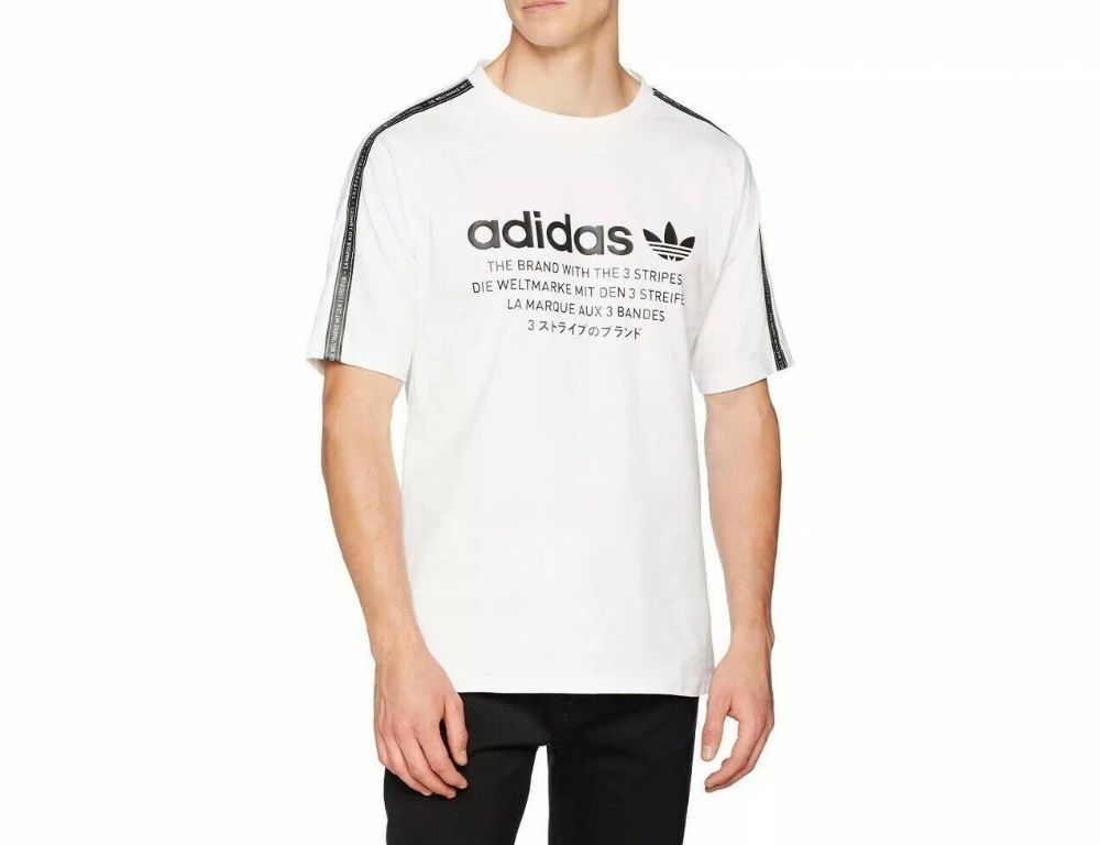 adidas Originals Men's NMD Crew Neck T-SHIRT Trefoil BNWT free UK Deliver CE1612